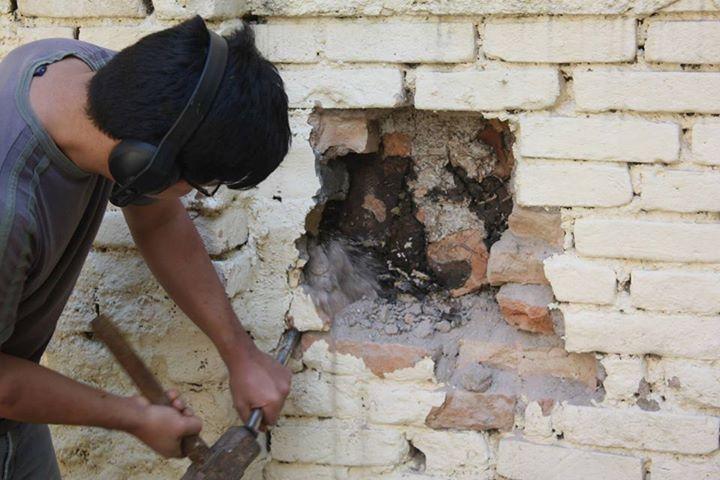 Esse Muro Foi Derrubado Por Uma Construtora, Mas Antes As Abelhas Foram Salvas.